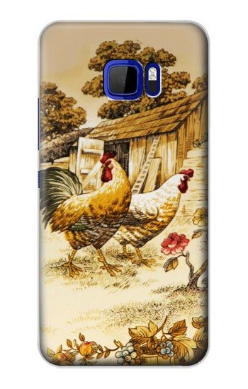 Printed French Country Chicken HTC Desire 616 dual sim Case