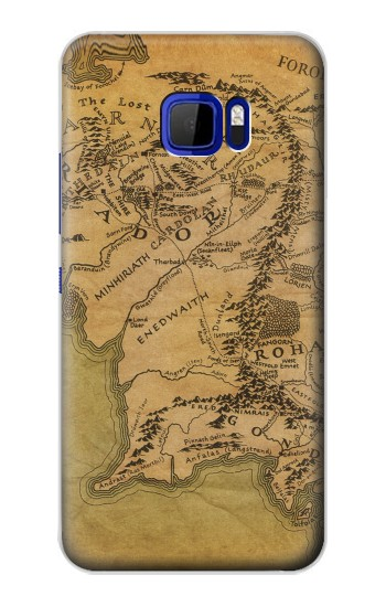 Printed The Lord Of The Rings Middle Earth Map HTC Desire 616 dual sim Case