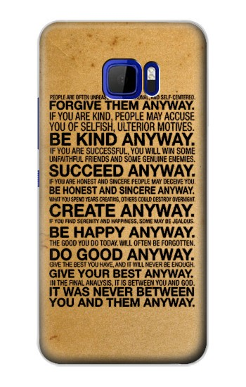 Printed Mother Teresa Anyway Quotes HTC Desire 616 dual sim Case