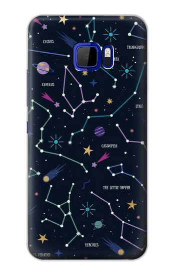 Printed Star Map Zodiac Constellations HTC Desire 616 dual sim Case
