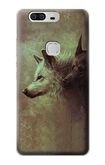 Printed White Black Wolf Huawei Ascend G6 Case