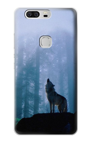 Printed Wolf Howling in Forest Huawei Ascend G6 Case