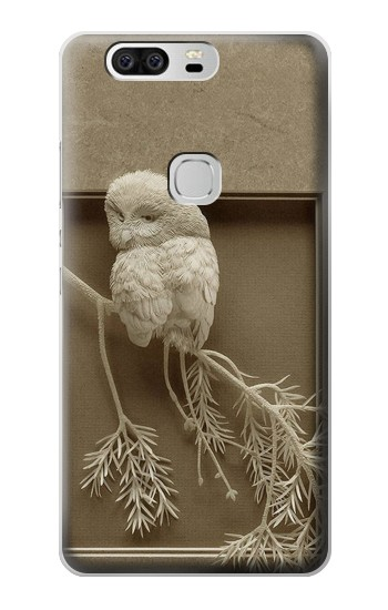 Printed Paper Sculpture Owl Huawei Ascend G6 Case