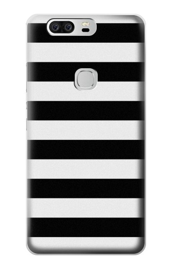 Printed Black and White Striped Huawei Ascend G6 Case