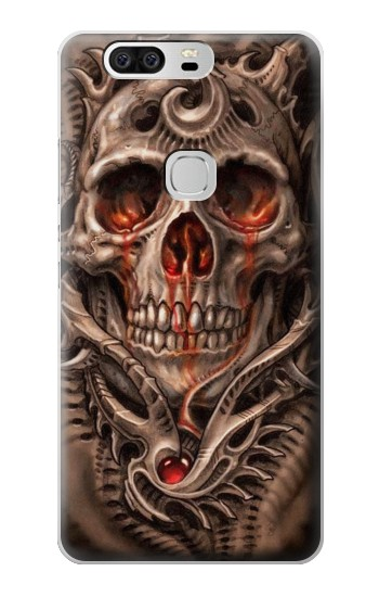 Printed Skull Blood Tattoo Huawei Ascend G6 Case