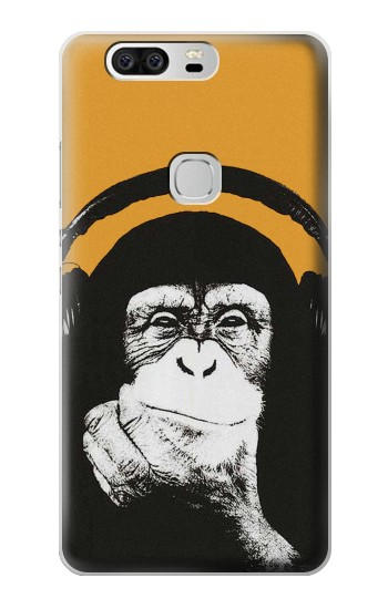 Printed Funny Monkey with Headphone Pop Music Huawei Ascend G6 Case