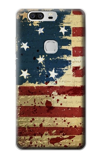Printed Old American Flag Huawei Ascend G6 Case