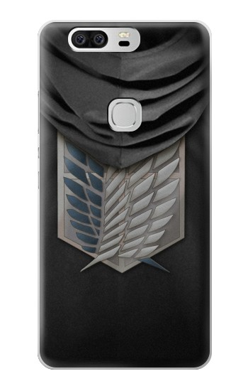 Printed Attack on Titan Scouting Legion Rivaille Black Cloak Huawei Ascend G6 Case