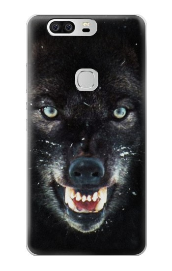 Printed Black Wolf Blue Eyes Face Huawei Ascend G6 Case