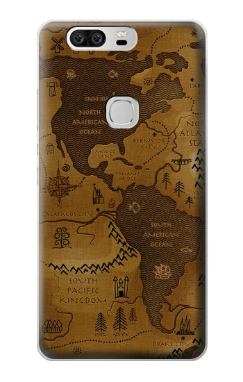 Printed Antique Style Map Huawei Ascend G6 Case