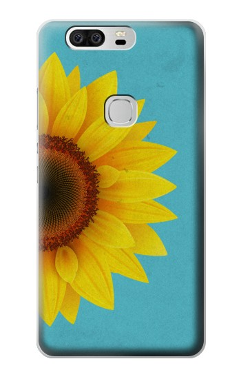 Printed Vintage Sunflower Blue Huawei Ascend G6 Case