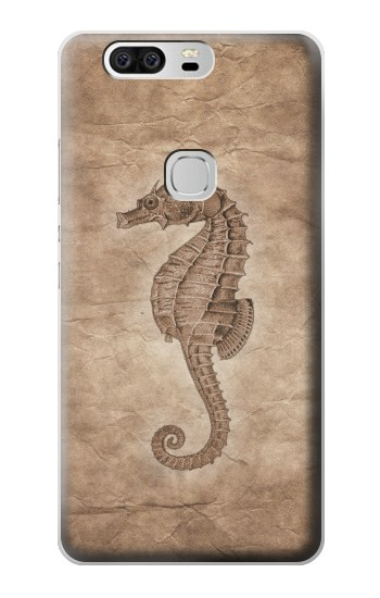 Printed Seahorse Old Paper Huawei Ascend G6 Case
