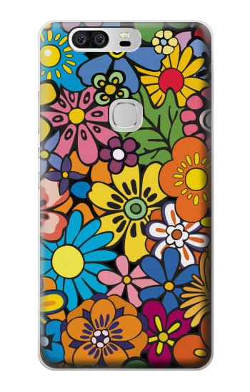 Printed Colorful Flowers Pattern Huawei Ascend G6 Case