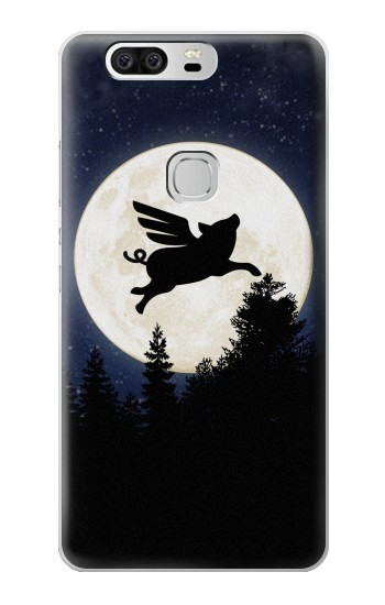 Printed Flying Pig Full Moon Night Huawei Ascend G6 Case