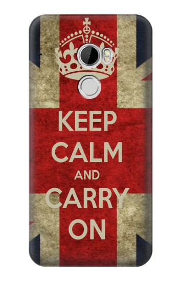 Printed Keep Calm and Carry On HTC Desire 610 Case