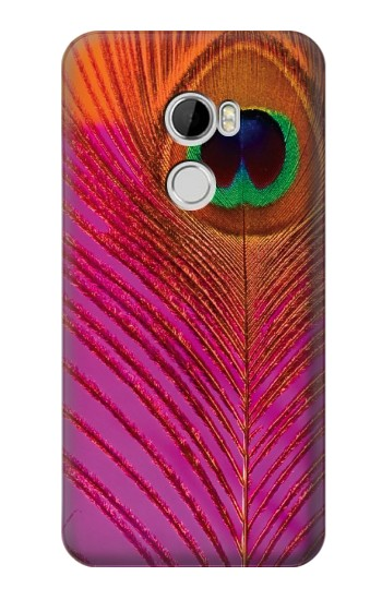 Printed Pink Peacock Feather HTC Desire 610 Case