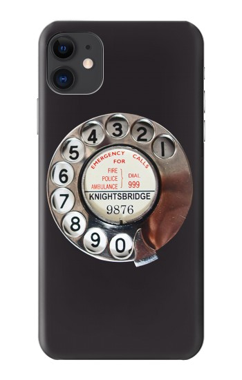 Printed Retro Rotary Phone Dial On iPhone 11 Case