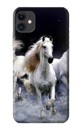 Printed White Horse iPhone 11 Case