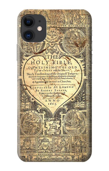 Printed Bible Page iPhone 11 Case