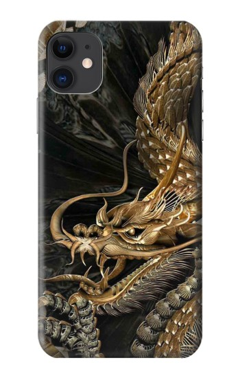Printed Gold Dragon iPhone 11 Case