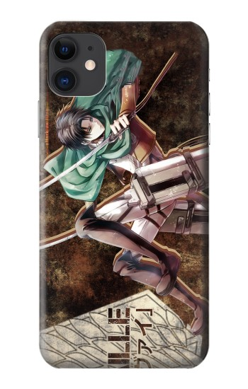 Printed Attack on Titan Rivaille iPhone 11 Case
