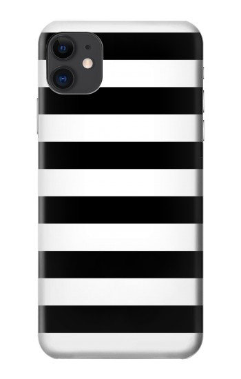 Printed Black and White Striped iPhone 11 Case