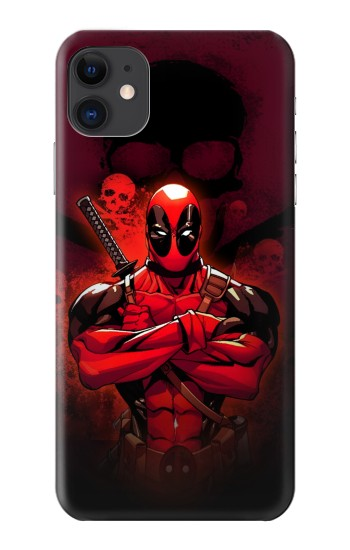 Printed Deadpool Skull iPhone 11 Case