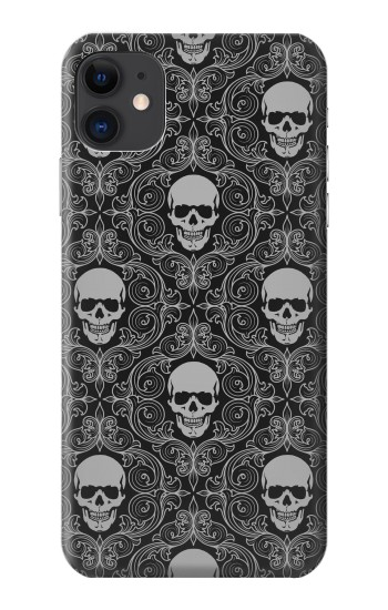 Printed Skull Vintage Monochrome Pattern iPhone 11 Case