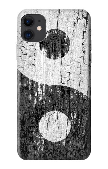 Printed Yin Yang Wood iPhone 11 Case