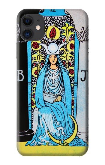 Printed The High Priestess Vintage Tarot Card iPhone 11 Case