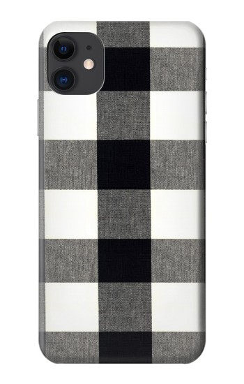 Printed Black and White Buffalo Check Pattern iPhone 11 Case
