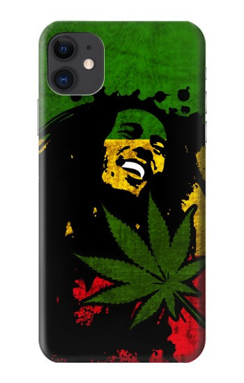 Printed Bob Marley Rasta Reggae Flag iPhone 11 Case