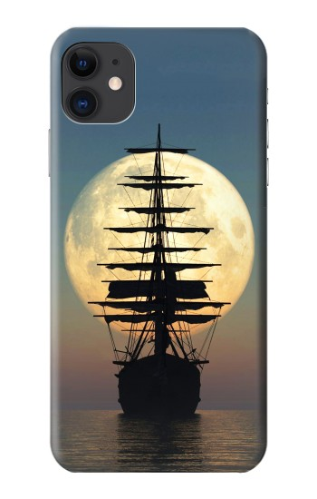 Printed Pirate Ship Moon Night iPhone 11 Case