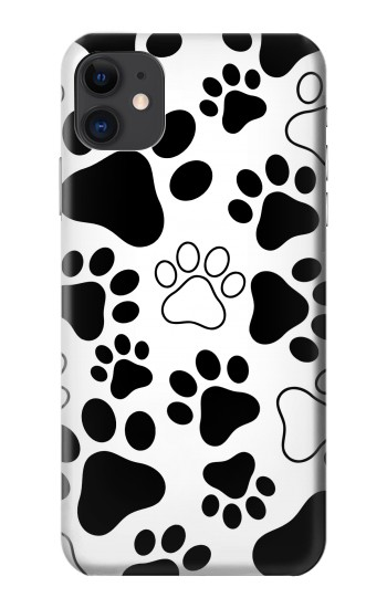 Printed Dog Paw Prints iPhone 11 Case