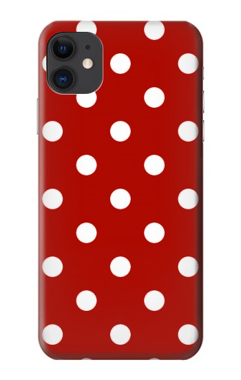 Printed Red Polka Dots iPhone 11 Case