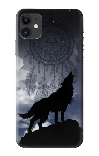 Printed Dream Catcher Wolf Howling iPhone 11 Case