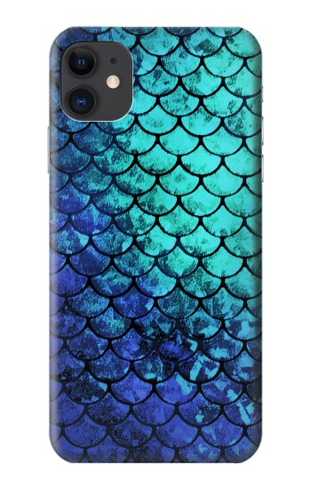 Printed Green Mermaid Fish Scale iPhone 11 Case