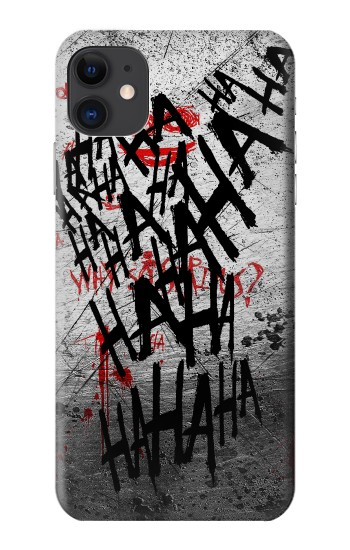 Printed Joker Hahaha Blood Splash iPhone 11 Case