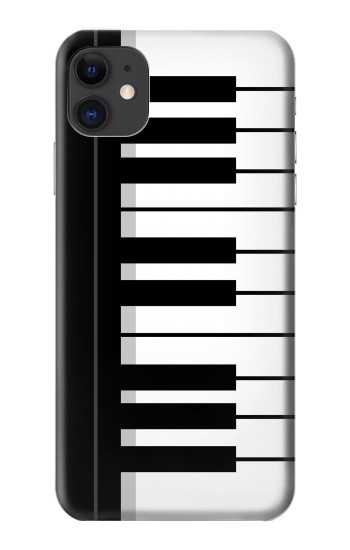 Printed Black and White Piano Keyboard iPhone 11 Case