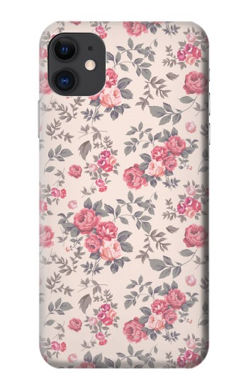Printed Vintage Rose Pattern iPhone 11 Case