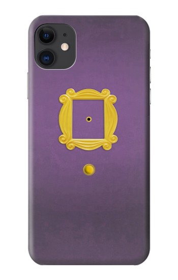 Printed Friends Purple Door Minimalist iPhone 11 Case