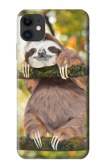 Printed Cute Baby Sloth Paint iPhone 11 Case