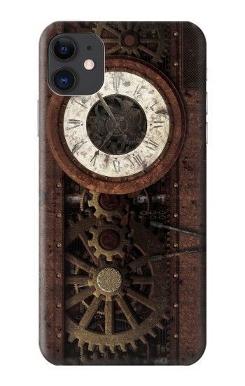 Printed Steampunk Clock Gears iPhone 11 Case