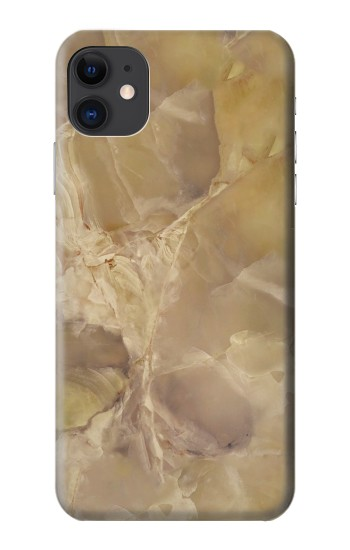 Printed Yellow Marble Stone iPhone 11 Case