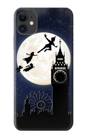 Printed Peter Pan Fly Fullmoon Night iPhone 11 Case