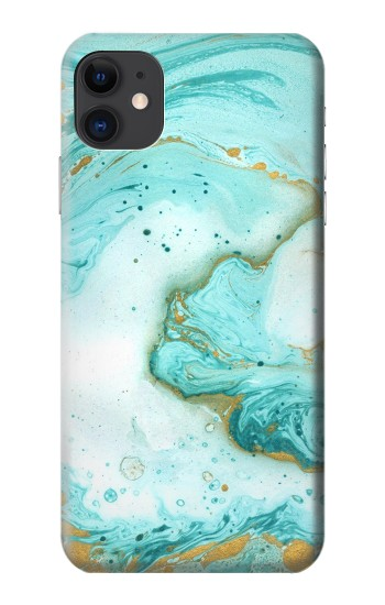 Printed Green Marble Graphic Print iPhone 11 Case