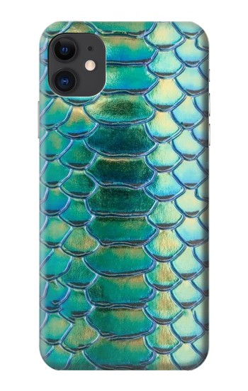 Printed Green Snake Scale Graphic Print iPhone 11 Case