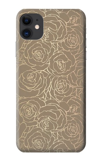 Printed Gold Rose Pattern iPhone 11 Case