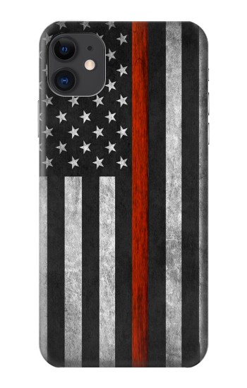 Printed Firefighter Thin Red Line Flag iPhone 11 Case