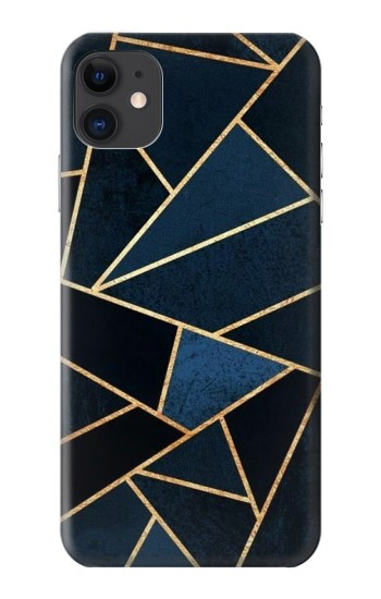 Printed Navy Blue Graphic Art iPhone 11 Case